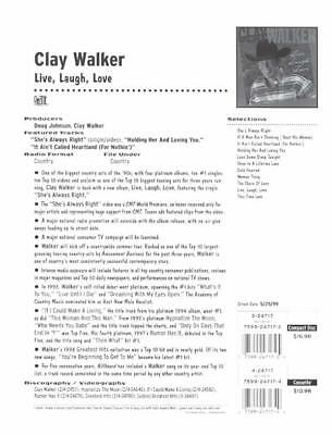 RARE Clay Walker Live, Laugh Promo Sales Brochure!