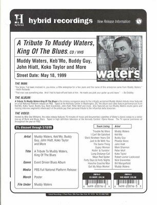RARE Tribute to Muddy Waters Promo Sales Brochure!
