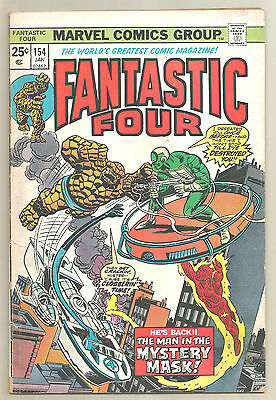 Fantastic Four 4 # 154 Marvel Comics 1975 The Man in the Mystery Mask!