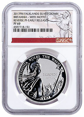 2017-PM FI Silver Britannia Rules Waves Silver Rev W/Motto NGC PF69 ER SKU49170