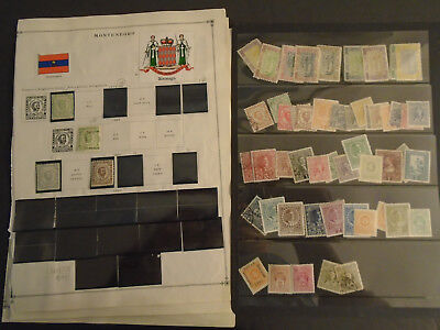 Montenegro Collection On Album Pages Old Mh/used Stamps