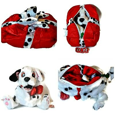 Vintage DISNEY 101 Dalmatians Changeable Christmas Present Stuffed Plush Toy NEW