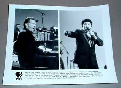 JERRY LEE LEWIS & CHUBBY CHECKER - PBS TV Promo Photo
