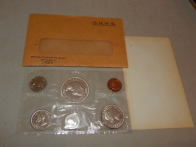 1962 Canada Silver Prooflike Coin Set  -  1.11 Troy Oz ASW
