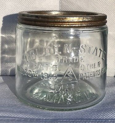 ViNtAgE MASON Golden-State Fruit Jar.  Ben Schloss
