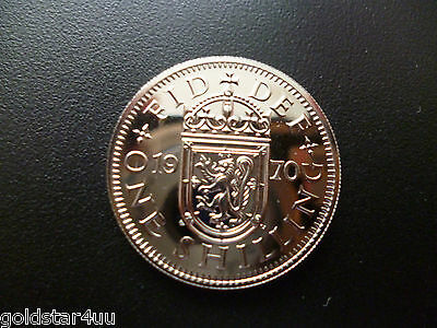 Proof QE11 1970 Shilling (Scottish) Only Struck in Proof Condition ,Low Mintage