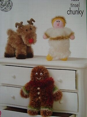 King Cole 9055 Rudolph, Angel Gingerbread Knitting Pattern