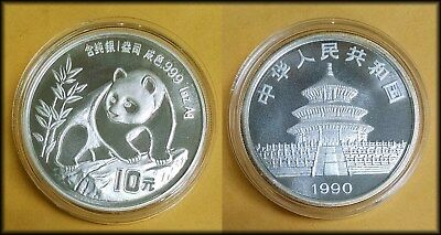 1990 China One Ounce Silver Panda