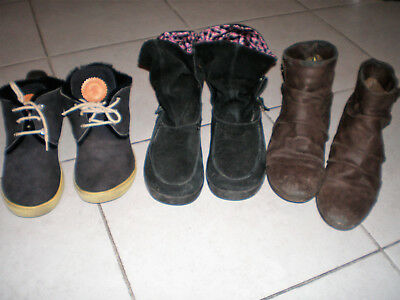 Lot 3 Paires Bottines Taille 38