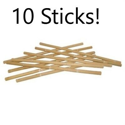 "10 THICK Escrima Kali Arnis Pentjak Tongkat Fighting Sticks Raw Rattan 1.25"" LOT"