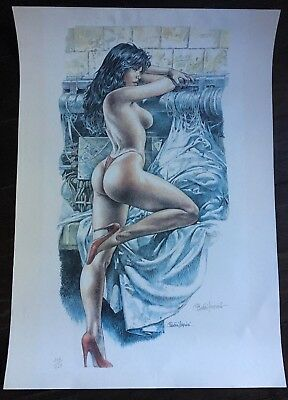 Serpieri Paolo Lithographie Signee Numerotee Bd