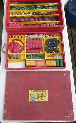 Vintage Meccano medium green and red period set 9 in original box