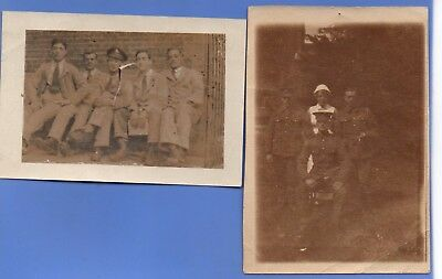 2 Small Photos Of Ww1 British Army Soldiers Recovering In Military Hospital