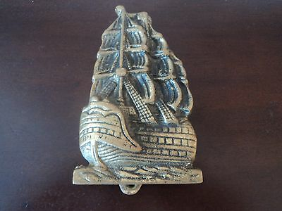 Vintage Brass Cast Marine/maritime Galion/ship's Door Knocker (Ship/boat/barge).