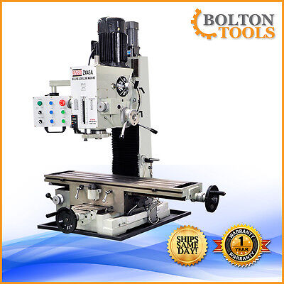 """9 1/2"""" x 40"""" Bench Top Milling Machine 3 Axis Power Feed ZX45A Free Shipping"""