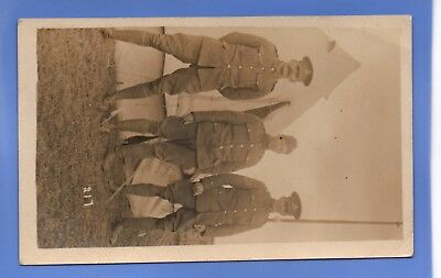 Superb Ww1 War Army Proud Soldiers In Uniform On Camp Rp Photo Postcard