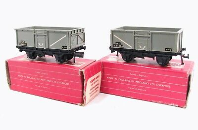 Hornby Dublo 2 x 4655 BR 16T Mineral Wagons