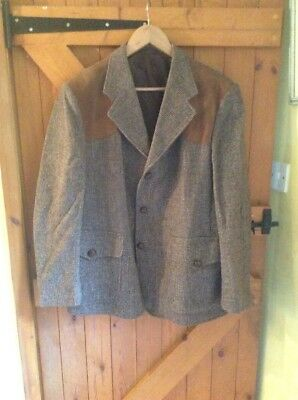 "Vintage St Michael (M&s) Tweed Jacket To Fit 43 - 44"" All Wool"