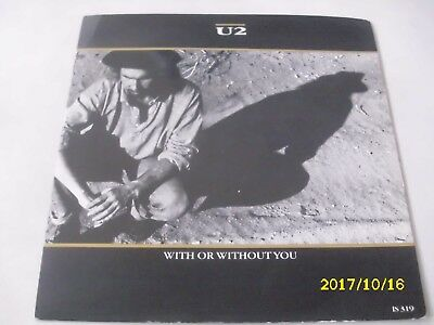"""7"""" Single, U 2, With or without you, mit Cover"""