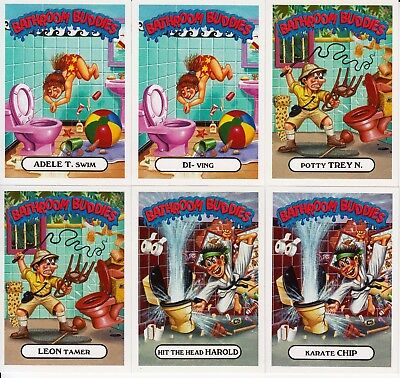 2017 Garbage Pail Kids Battle Of The Bands Bathroom Buddies Set 6/6 Cards