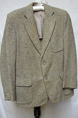 1940s Vintage MEN'S MERRIMEL SPORTS FLECK TWEED WRAP POCKETS SUIT JACKET BLAZER