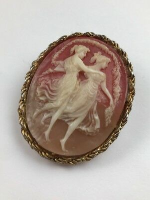BEAUTIFUL ANTIQUE CAMEO BROOCH PIN Pendant  MUSE ~ STUNNING