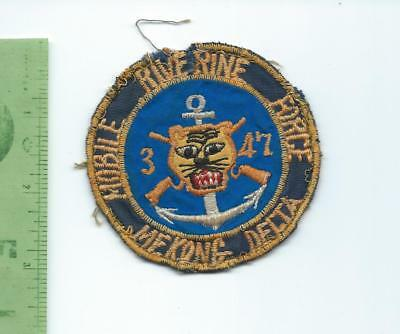 Mobile Riverine Force  3 47 Mekong Delta  patch Vietnam theater made