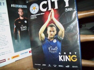 LEICESTER CITY  v  WEST BROMWICH ALBION ~ PROGRAMME + POSTER - BAGGED