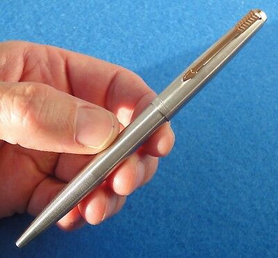 Mint Vtg.PARKER 45 Flighter GT ballpoint pen, early version ridged point -France