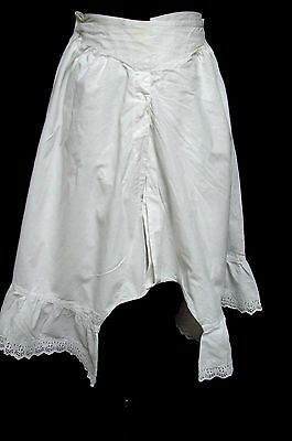 Antique Victorian Edwardian Fancy Flared Cuffs Open Bottom Bloomers Pantaloons