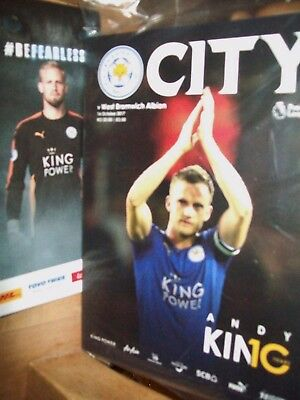 LEICESTER CITY  v  WEST BROM. ~ PROGRAMME  WITH TEAMSHEET + POSTER