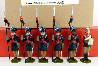 BOB YEKNIK 54mm WHITE METAL 10TH BENGAL LANCERS HODSONS HORSE 6 PIECE BOXED SET