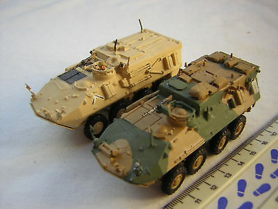 2 X Scratchbuilt Modern American Military M1126 Stryker Armoured Cars Scale 1:72