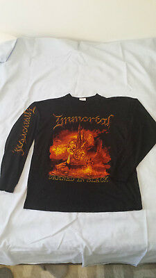 IMMORTAL - Damned In Black LS XL