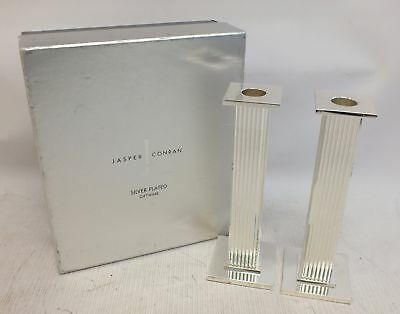 Pair of Jasper Conran Silver Plated Candlesticks 'Designers at Debenhams'  - R06