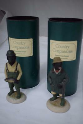 2 Robert Harrop Designs Country Companions England Figurines CC13 & CC1a w Boxes