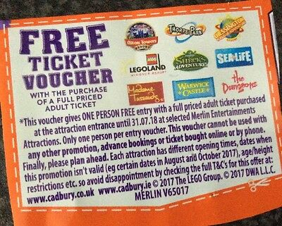 Alton Towers / Thorpe Park / Lego land Windsor/ Merlin Attractions Adult Voucher