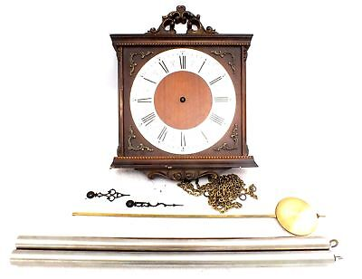 Vintage Mechanical WALL CLOCK Restoration Project With Pendulum & Weights  - R22