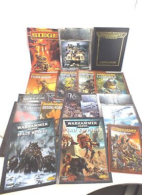 A Mixed Collection 17X WARHAMMER Role Playing Books  - N03
