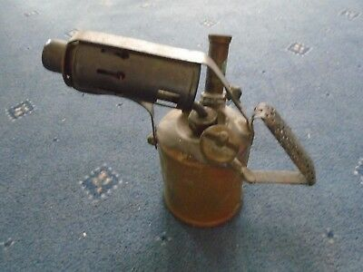 Vintage  Brass Steel Blow Torch / blow lamp