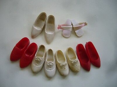 Vintage 1960s Pedigree Sindy Doll Shoes Kitten Heels Sneakers Daisy Sandals