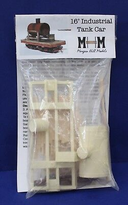 Morgan Hill Models 16' Industrial Tank Car On30 Craftsman Kit New in pkg