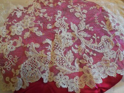 ELABORATE Antique Handmade  LACE Length 3yds x 7""