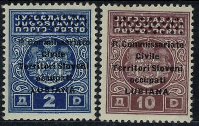 ITALIAN OCCUPATION LJUBLJANA 1941 Postage Due 2v MNH / B13886