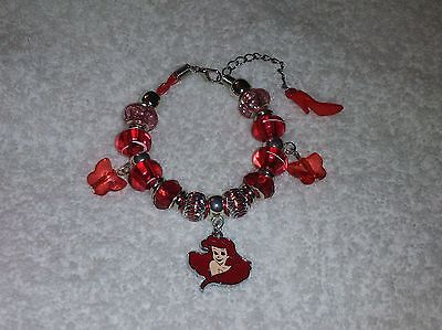 DISNEY PRINCESS ARIEL Little MERMAID European Charm BRACELET A Free Gift Bag