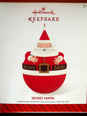 SECRET SANTA,Yr 2014 Hallmark Ornament,OPENS TO HIDE A SURPRISE!