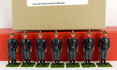 BOB YEKNIK 54mm WHITE METAL GERMAN INFANTRY WW1 FULL DRESS 7 PIECE BOXED SET