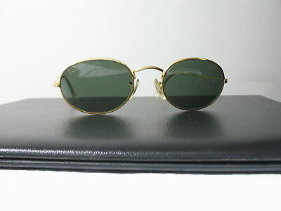 Ray Ban B&l Oval Vintage Gold Frame Sunglasses