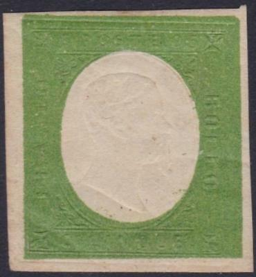 ITALIAN STATES SARDINIA 1854 VEII 5c not issued no gum backstamped B14425
