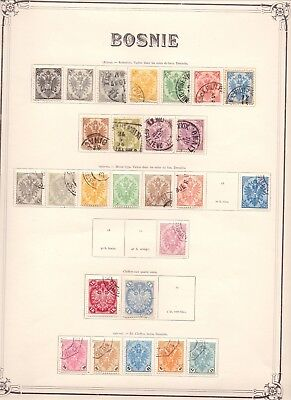Bosnia 1879-1917 Mint & Used Collection On 7 Yvert Album Pages